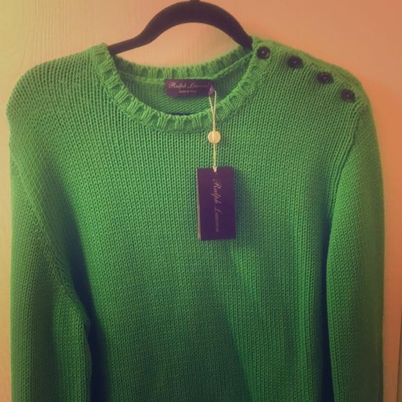 Ralph Lauren Other - Ralph Lauren 100 percent green cotton sweater